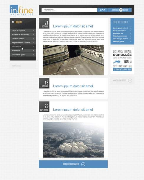 INFINE intranet - accueil