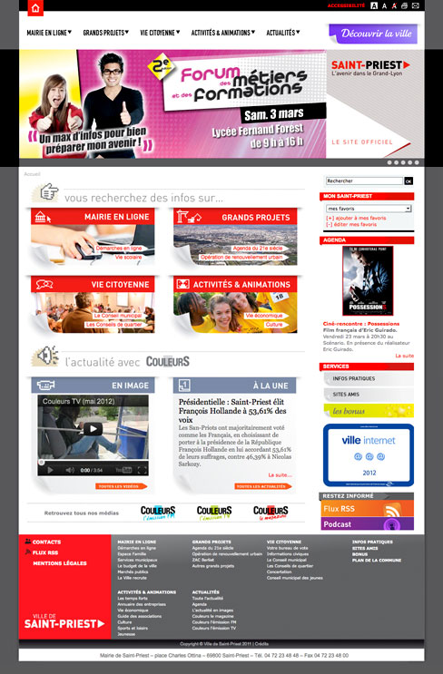 Ville de saint priest site internet kojak design - Piscine de st priest ...