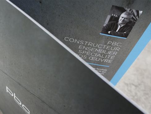 PBC Constructeur – Nouvelle identité visuelle – Plaquette Commerciale