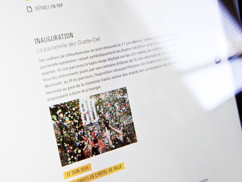 Site Internet 80 ans des Gratte-ciel de Villeurbanne
