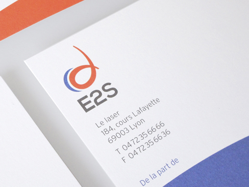 E2S, refonte d'identité visuelle, plaquette institutionnelle