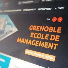 Grenoble École de Management – refonte graphique