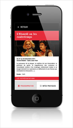TNP app - spectacle