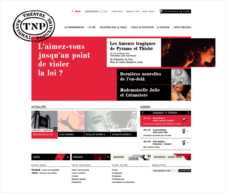 TNP site - accueil