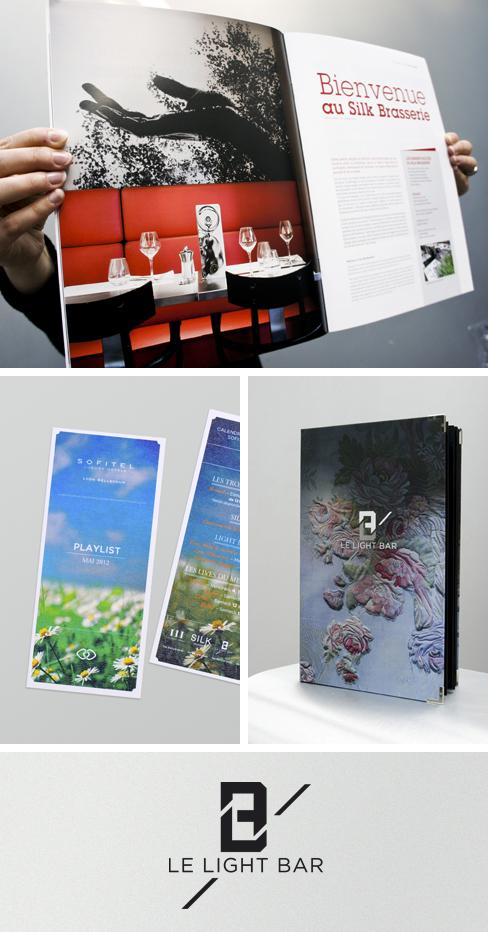 Sofitel - Identité visuelle Lightbar, Flyer, Annonces presse etc.