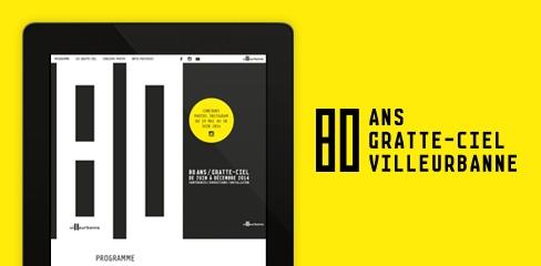 Site Internet Ville de Villeurbanne 80 ans