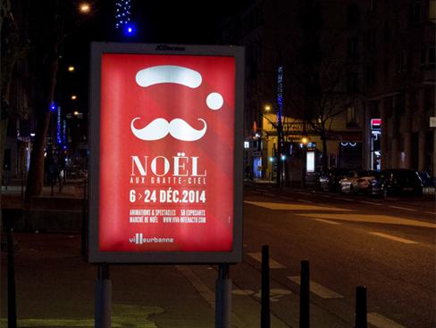 Ville de Villeurbanne – Visuel Noël aux Gratte-Ciel